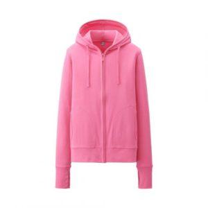 áo chống nắng Uniqlo màu hồng đậm 12pink