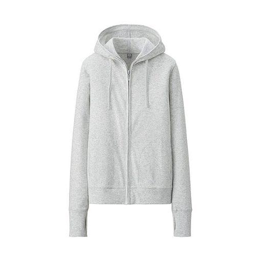 Áo chống nắng dành cho nam Uniqlo màu ghi xám 02 light gray