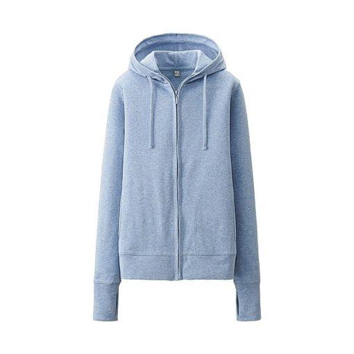 Áo chống nắng dành cho nam Uniqlo màu xanh xám 61 blue
