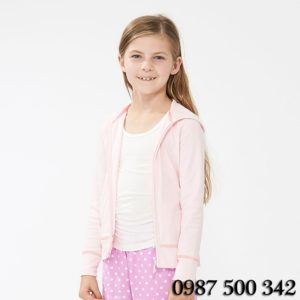 Áo chống nắng Uniqlo Nhật cho trẻ em màu hồng nhạt
