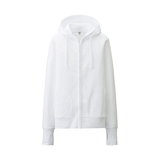 Áo chống nắng Uniqlo màu trắng 00 white