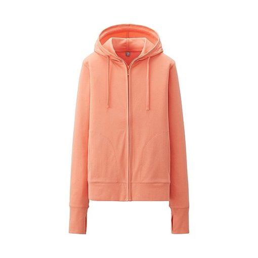 Áo chống nắng Uniqlo màu cam 21 light orange