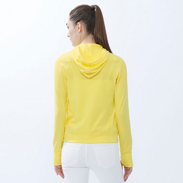 Áo chống nắng Uniqlo màu vàng nhạt 42 yellow