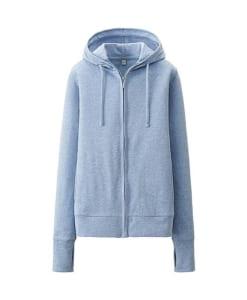 Áo chống nắng Uniqlo màu xanh ghi 61 blue