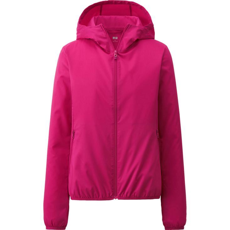 Áo gió Uniqlo màu hồng đậm