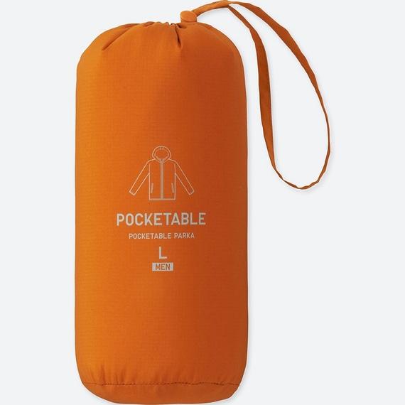 Túi áo gió Uniqlo màu cam