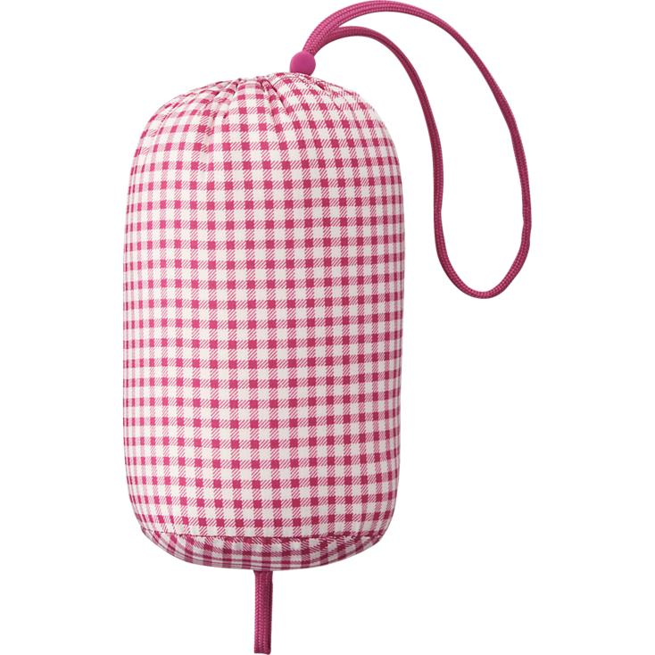 Túi đựng áo gió Uniqlo kẻ caro màu hồng