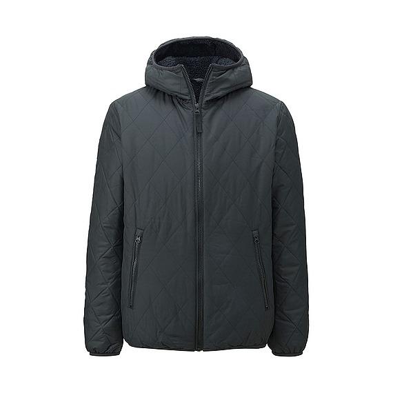 Áo trần trám lót lông cừu Uniqlo cho nam màu đen