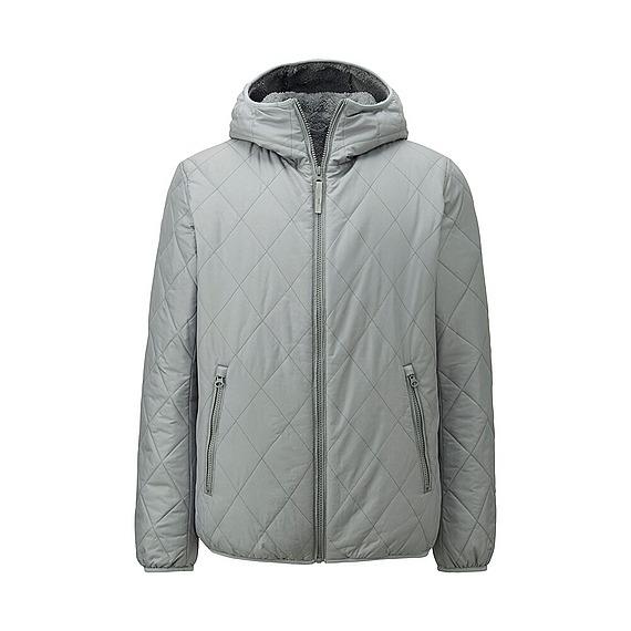 Áo trần trám lót lông cừu Uniqlo cho nam màu xám