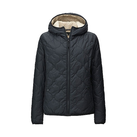 Áo trần trám lót lông cừu Uniqlo màu xanh đen(navy)