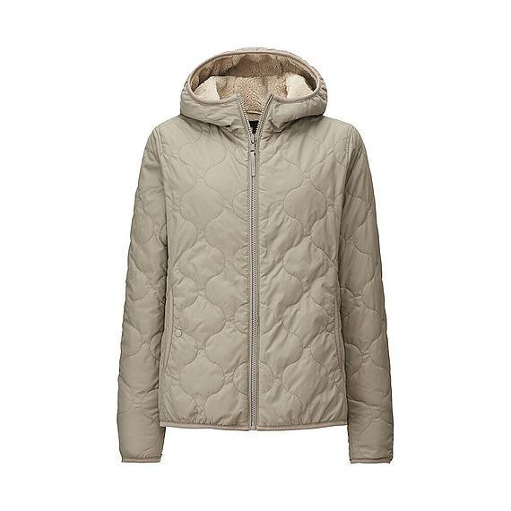 Áo trần trám lót lông cừu Uniqlo màu xám