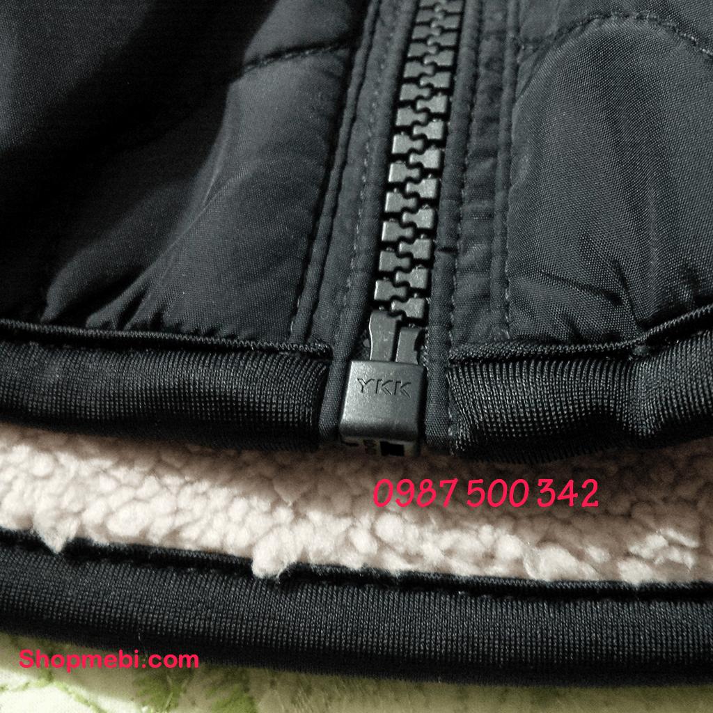 khóa áo trần trám lót lông cừu Uniqlo