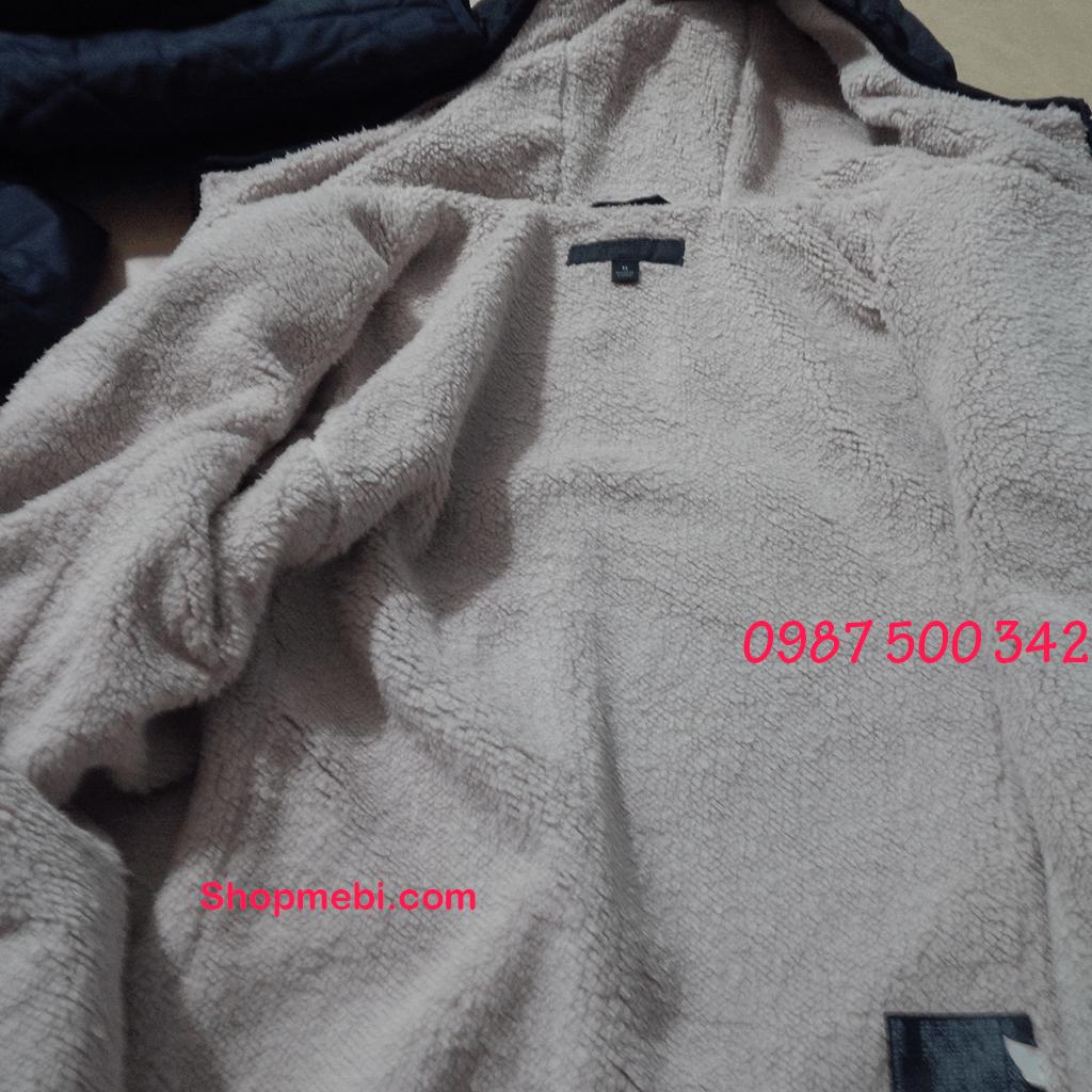 lớp lót lông cừu khóa áo trần trám lót lông cừu Uniqlo cho nữ