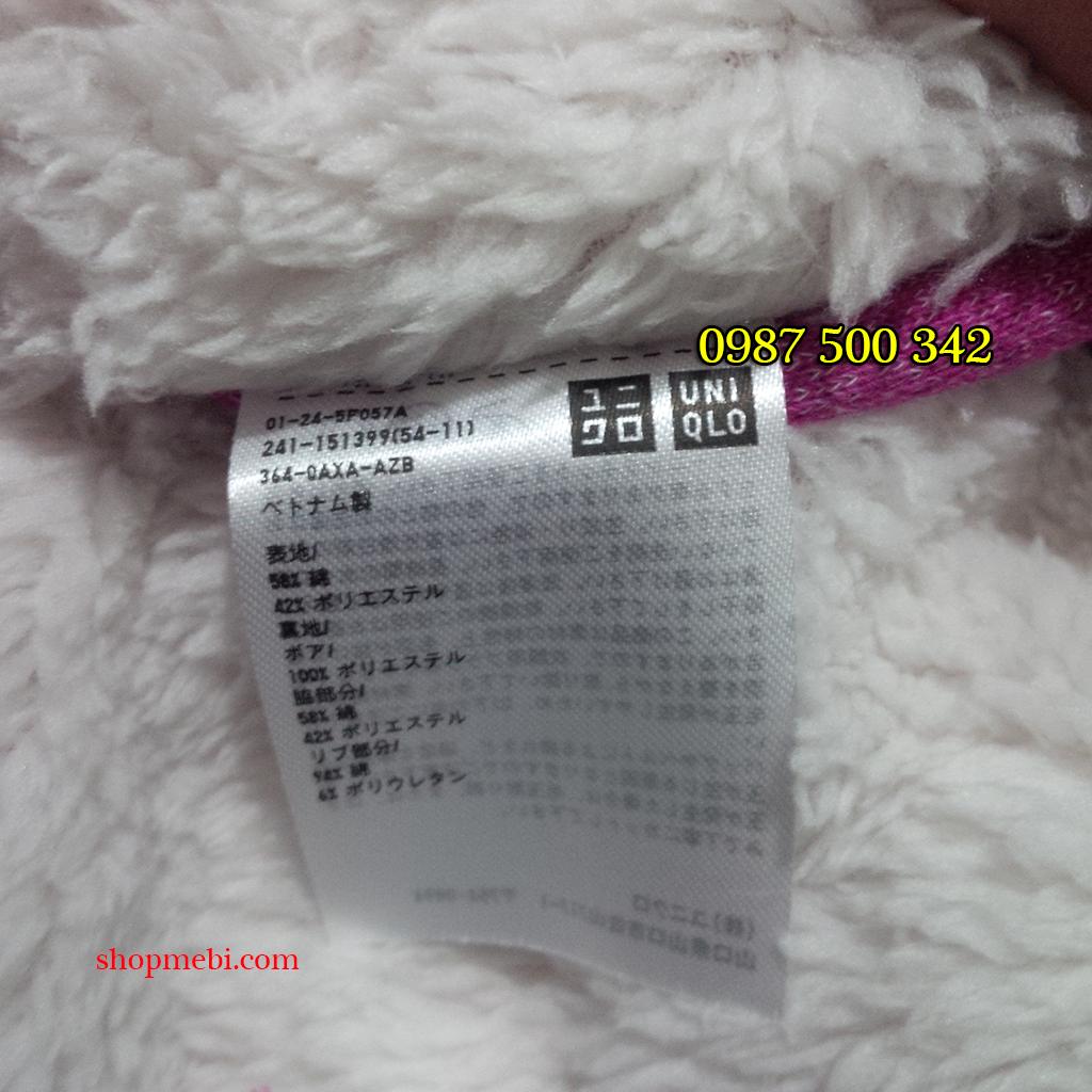 Mác áo nỉ lót lông cừu Uniqlo