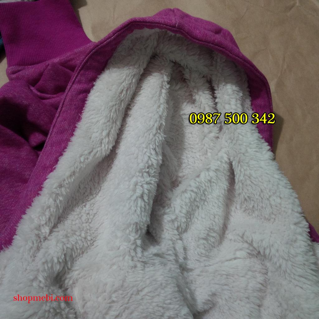 Mũ áo nỉ lót lông cừu Uniqlo
