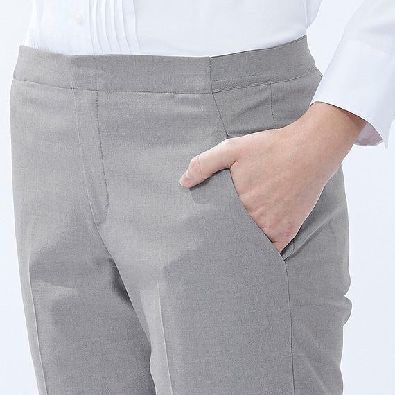 Quần kaki Uniqlo màu xám trơn