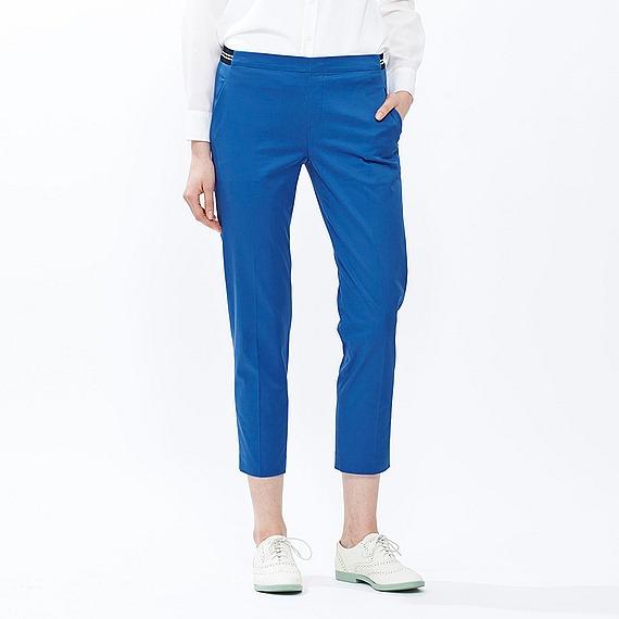 Quần kaki Uniqlo màu xanh coban trơn