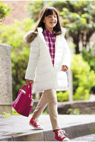 Áo phao siêu nhẹ Uniqlo màu trắng
