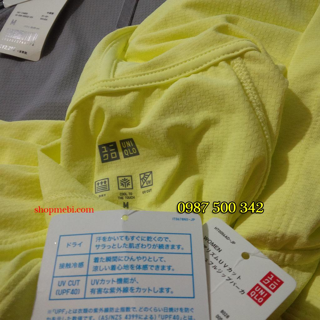 áo làm mát Uniqlo AiRism 2016