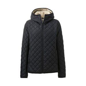 áo trần trám lót lông cừu Uniqlo 2016 màu đen