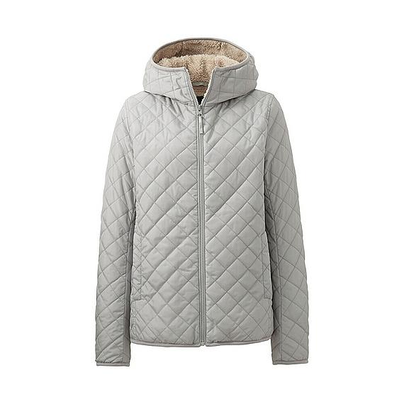 Áo trần trám lót lông cừu Uniqlo nữ ghi xám mẫu 2016