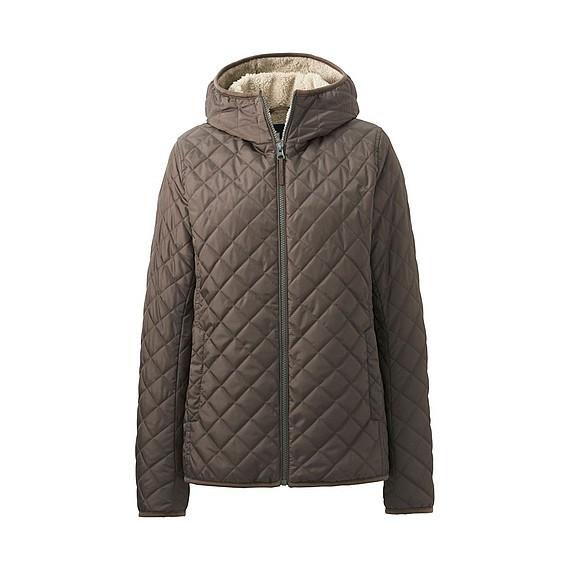 Áo trần trám lót lông cừu Uniqlo 2016 màu nâu đậm