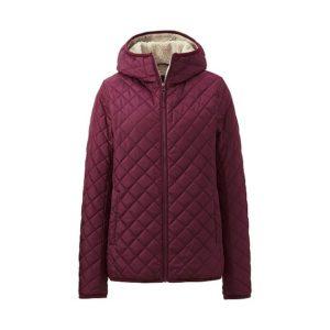 Áo trần trám lót lông cừu Uniqlo 2016 màu mận tím