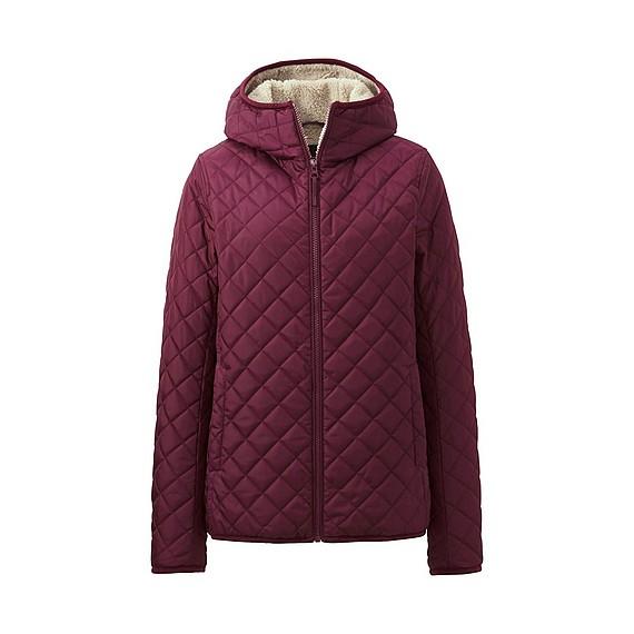 Áo trần trám lót lông cừu Uniqlo 2016 màu tím mận
