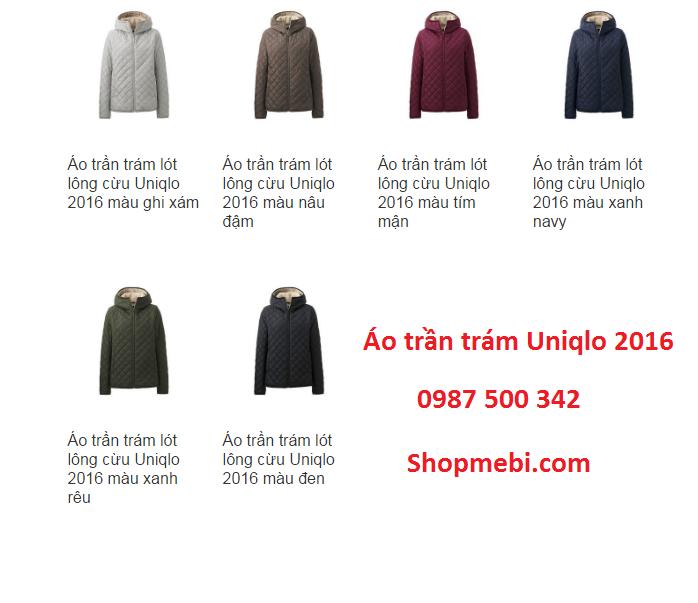 Màu áo trần trám Uniqlo 2016