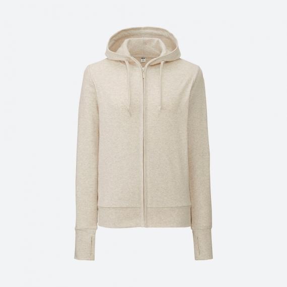Áo chống nắng Uniqlo 2017 chất cotton màu be 30 NATURAL