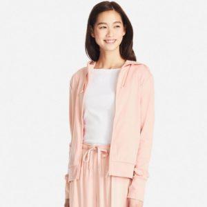 Áo chống nắng Uniqlo 2017 chất cotton màu cam hồng 21 LIGHT ORANGE
