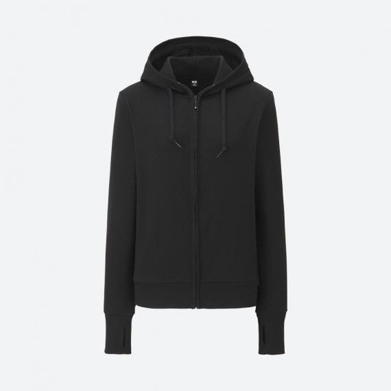 Áo chống nắng Uniqlo 2017 chất cotton màu đen 09 black