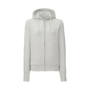 Áo chống nắng Uniqlo 2017 chất cotton màu ghi 02 LIGHT GRAY