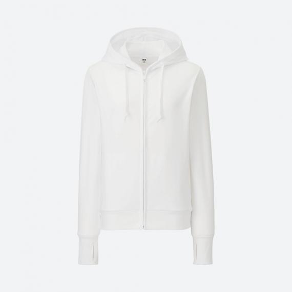 Áo chống nắng Uniqlo 2017 chất cotton màu trắng 00 white