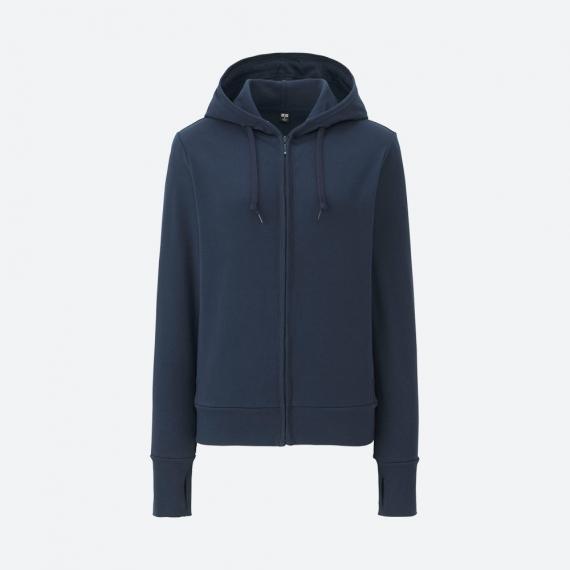 Áo chống nắng Uniqlo 2017 chất cotton màu xanh navy