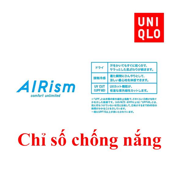 Chỉ số chống nắng của áo chống nắng Uniqlo