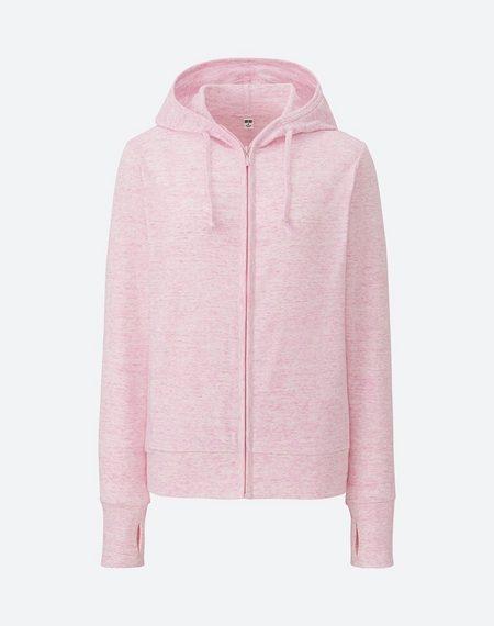 Áo chống nắng cotton Uniqlo 2017 màu Hồng xước  12 pink