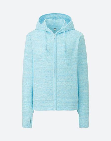 Áo chống nắng cotton Uniqlo 2017 màu xanh da trời xước 62 BLUE