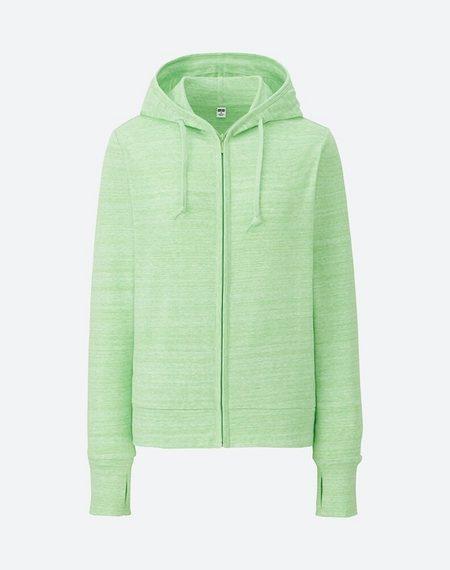 Áo chống nắng Uniqlo 2017 màu xanh lá cây xước 53 Green mã 182224