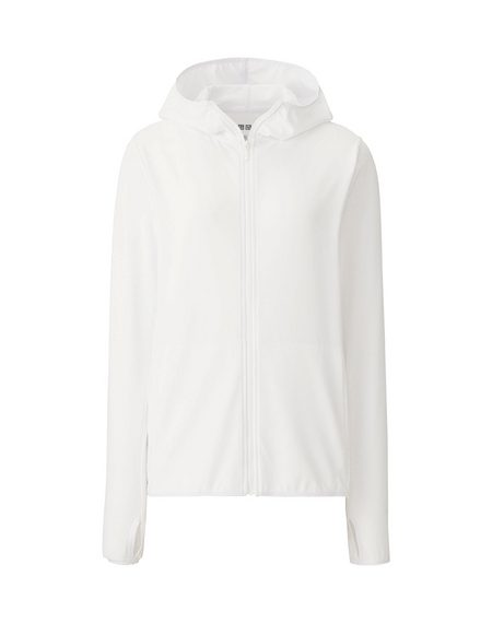 Áo chống nắng làm mát Uniqlo Airism 2017 màu trắng 00 WHITE