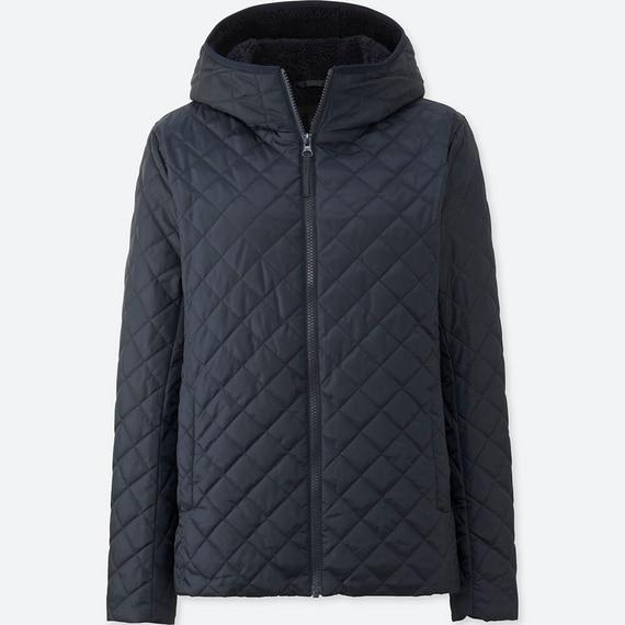 Áo trần trám lót lông cừu Uniqlo màu xanh navy