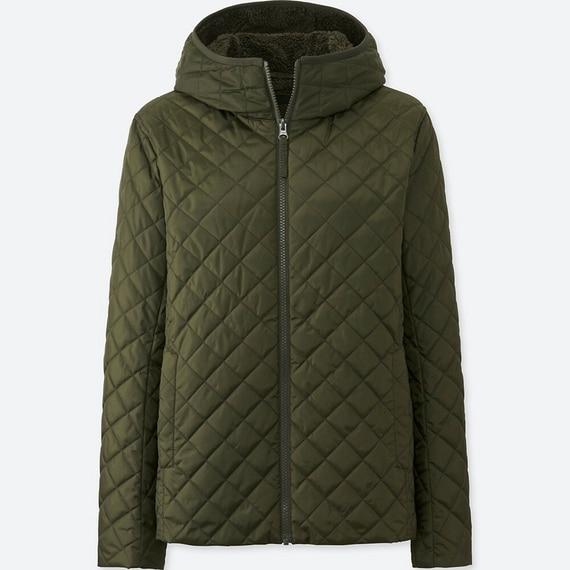 Áo trần trám lót lông cừu Uniqlo màu xanh rêu