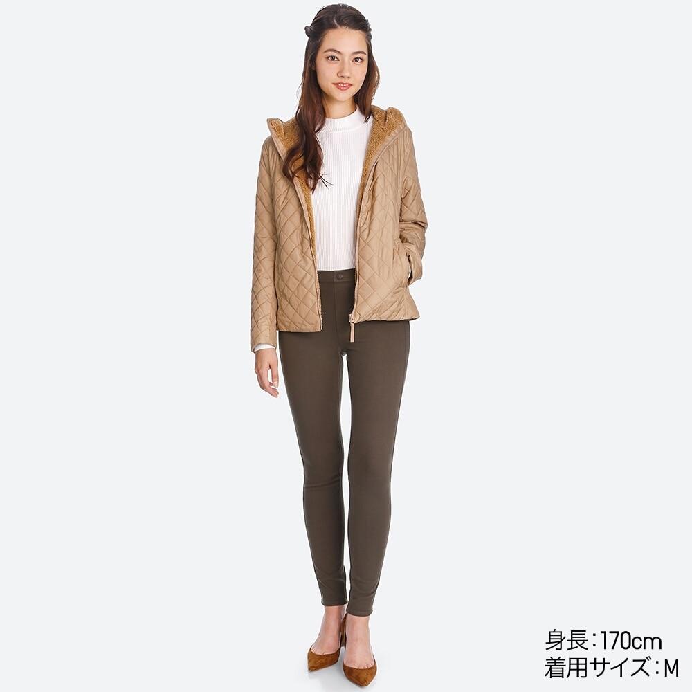 Dáng áo trần trám lót lông cừu Uniqlo 2017