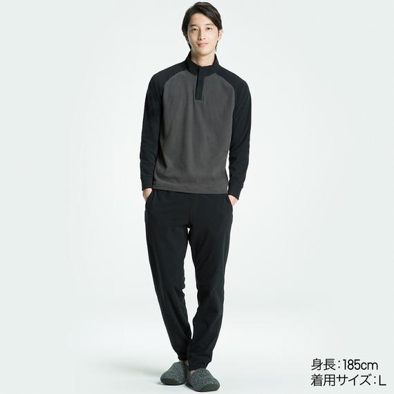 Bộ đồ mặc nhà Uniqlo nam chất nỉ màu đen
