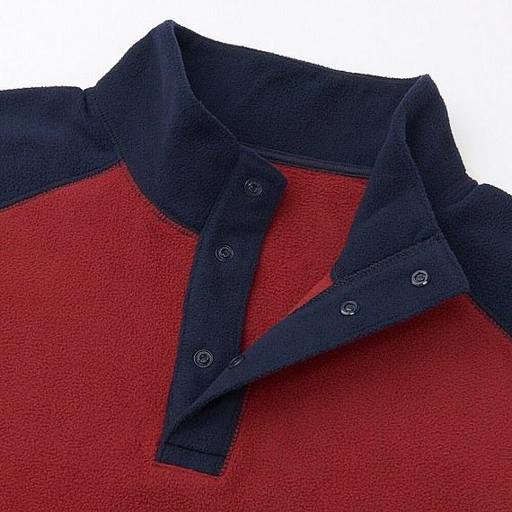 Bộ đồ mặc nhà Uniqlo nam chất nỉ màu navy - cổ áo