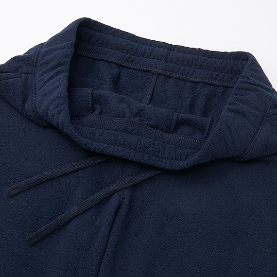 Bộ đồ mặc nhà Uniqlo nam chất nỉ màu navy - quần mặt trước