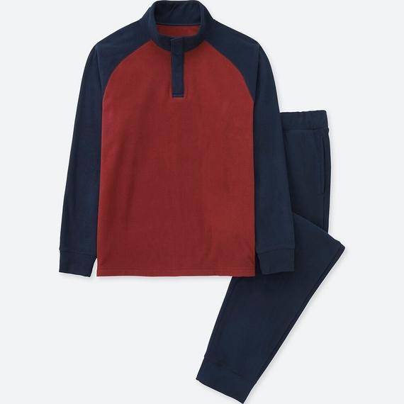 Bộ đồ mặc nhà Uniqlo nam chất nỉ màu navy