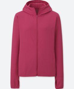 Áo chống nắng chất thun lạnh Uniqlo AiRism 2018 màu đỏ đô 75 Purple