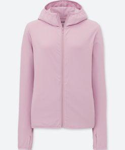 Áo chống nắng chất thun lạnh Uniqlo AiRism 2018 màu tím nhạt 10 Pink