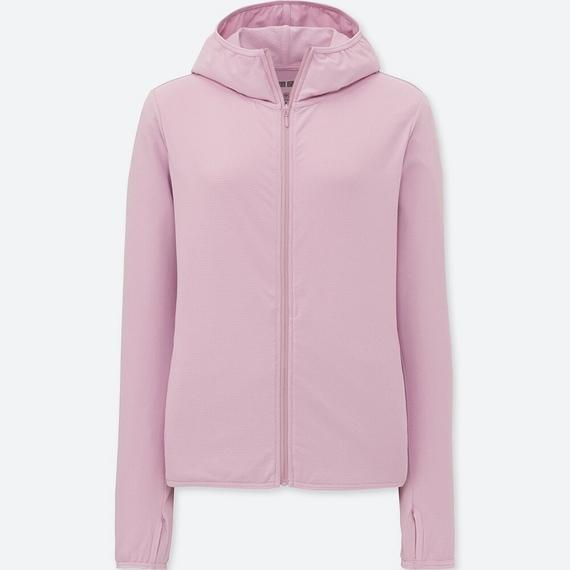 Áo chống nắng chất thun lạnh Uniqlo AiRism 2018 màu hồng nhạt 10 Pink